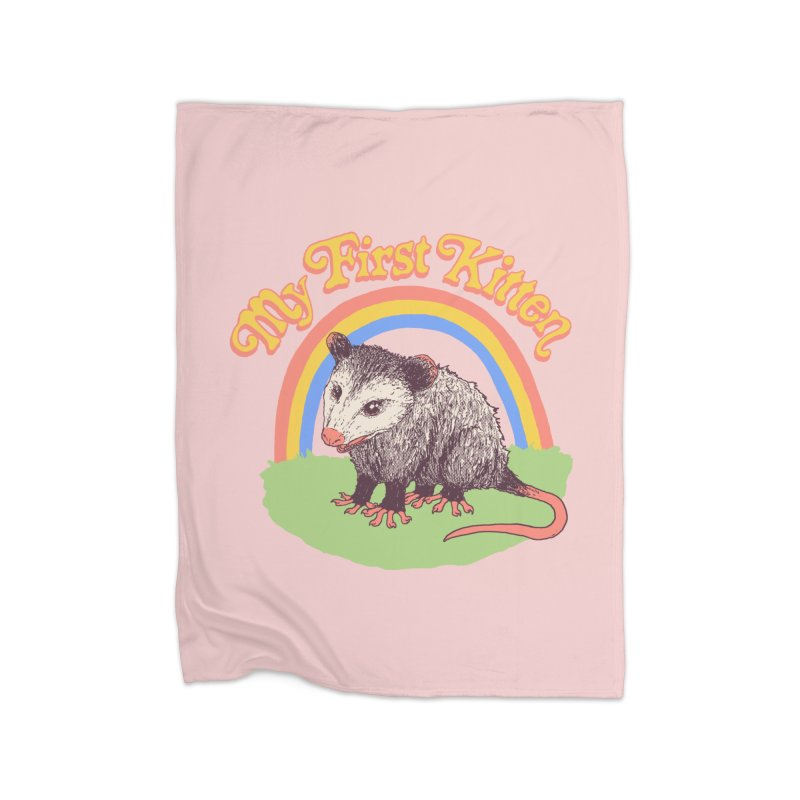 My First Kitten Home Fleece Blanket Blanket by Hillary White