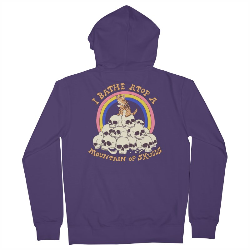 Bathe Atop A Mountain Of Skulls Women's French Terry Zip-Up Hoody by Hillary White