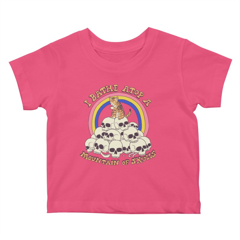 Bathe Atop A Mountain Of Skulls Kids Baby T-Shirt by Hillary White