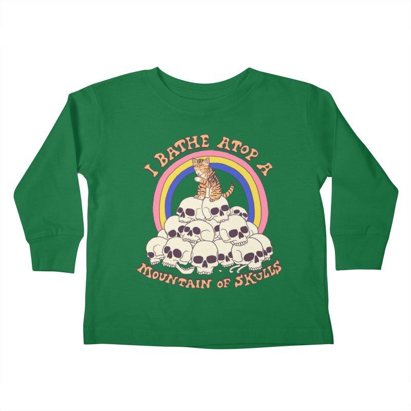 Bathe Atop A Mountain Of Skulls Kids Toddler Longsleeve T-Shirt by Hillary White