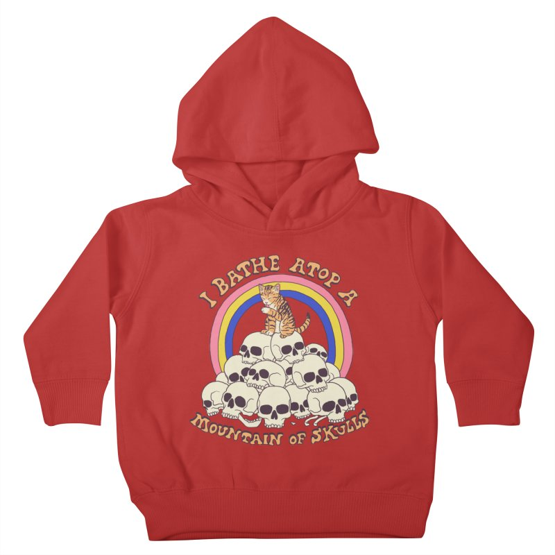 Bathe Atop A Mountain Of Skulls Kids Toddler Pullover Hoody by Hillary White