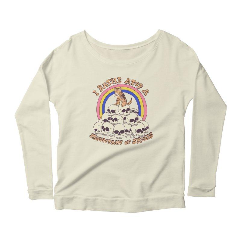 Bathe Atop A Mountain Of Skulls Women's Scoop Neck Longsleeve T-Shirt by Hillary White