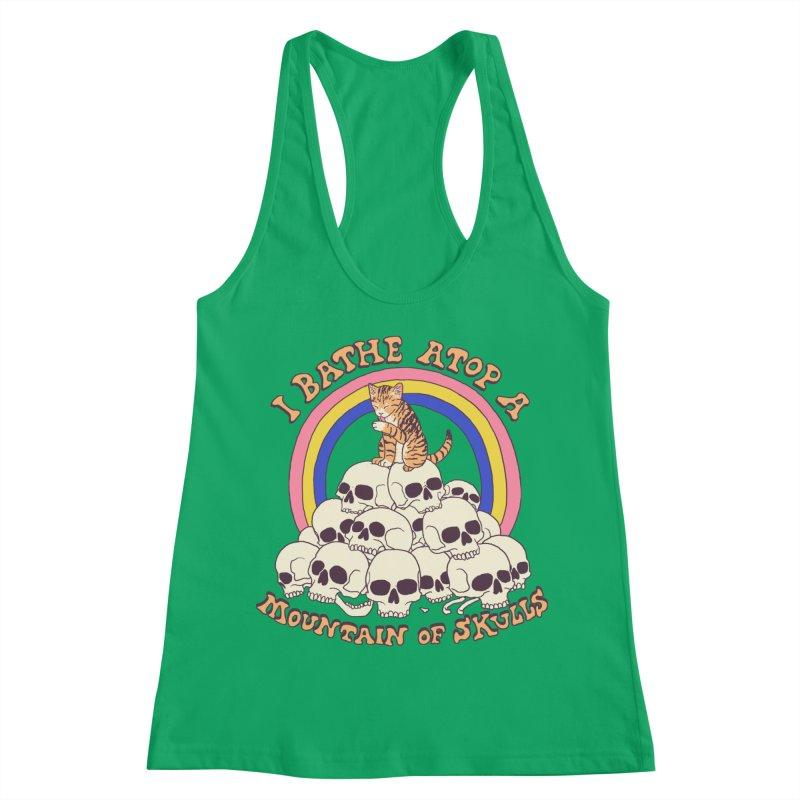 Bathe Atop A Mountain Of Skulls Women's Racerback Tank by Hillary White