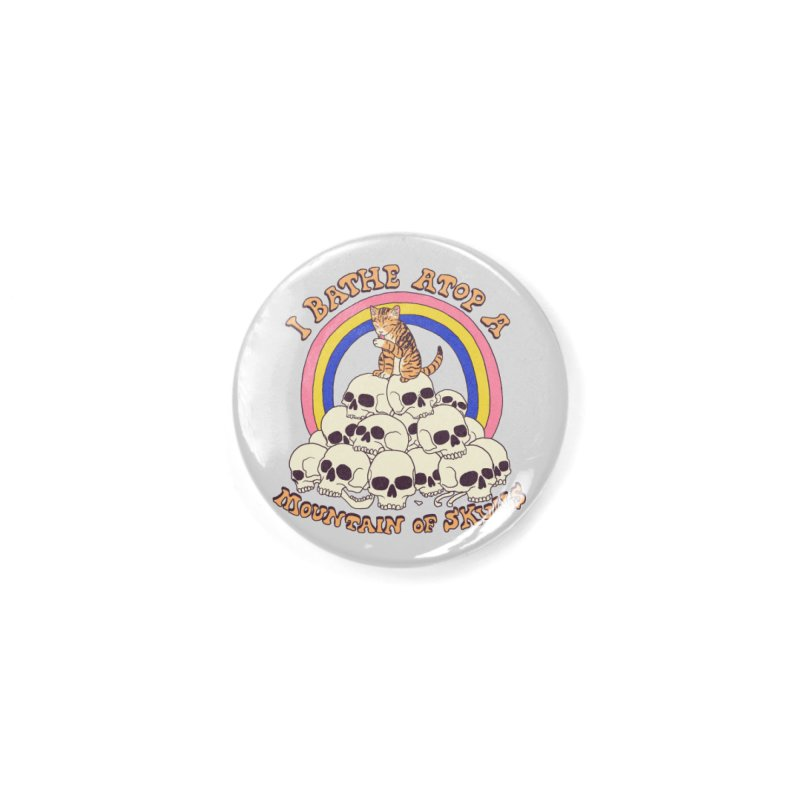 Bathe Atop A Mountain Of Skulls Accessories Button by Hillary White