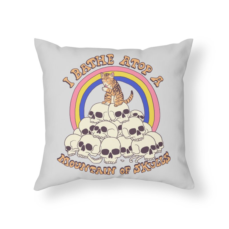 Bathe Atop A Mountain Of Skulls Home Throw Pillow by Hillary White