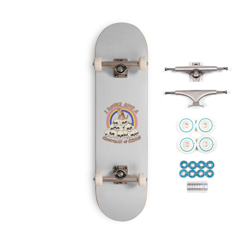 Bathe Atop A Mountain Of Skulls Accessories Complete - Basic Skateboard by Hillary White