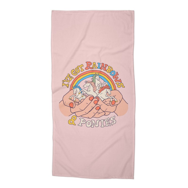 I've Got Rainbows And Ponies Accessories Beach Towel by Hillary White