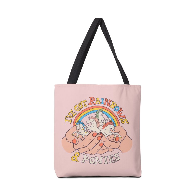 I've Got Rainbows And Ponies Accessories Tote Bag Bag by Hillary White