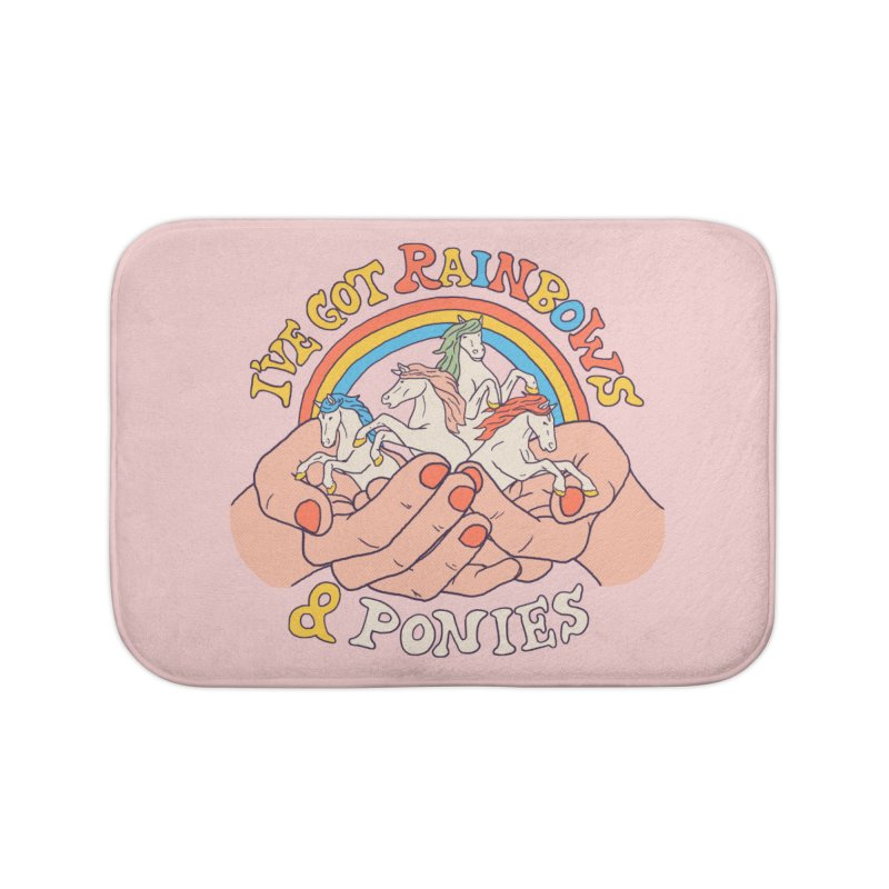 I've Got Rainbows And Ponies Home Bath Mat by Hillary White