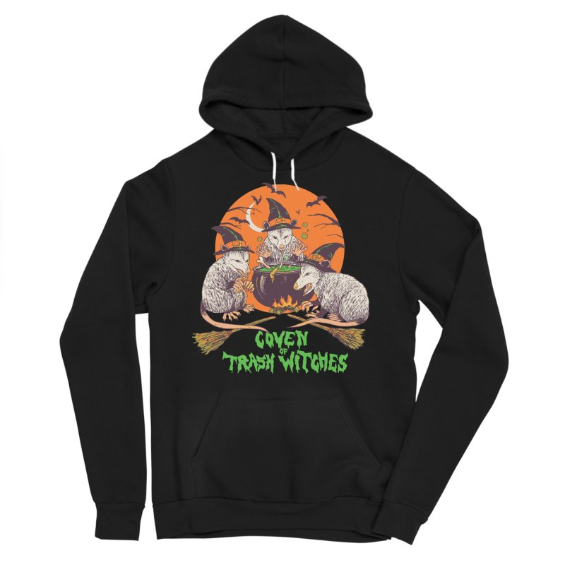 Coven Of Trash Witches Men's Sponge Fleece Pullover Hoody by Hillary White