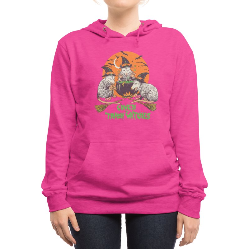Coven Of Trash Witches Women's Pullover Hoody by Hillary White Rabbit
