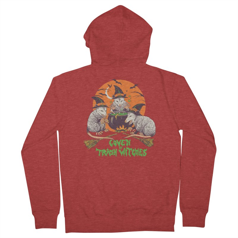Coven Of Trash Witches Men's French Terry Zip-Up Hoody by Hillary White