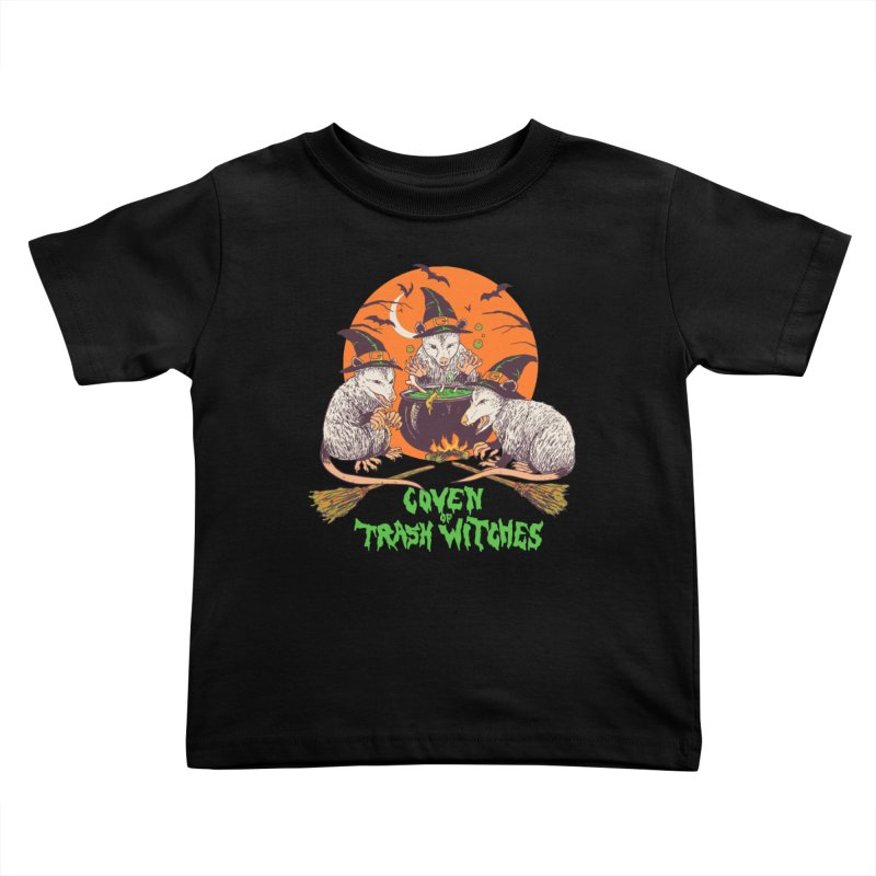Coven Of Trash Witches Kids Toddler T-Shirt by Hillary White