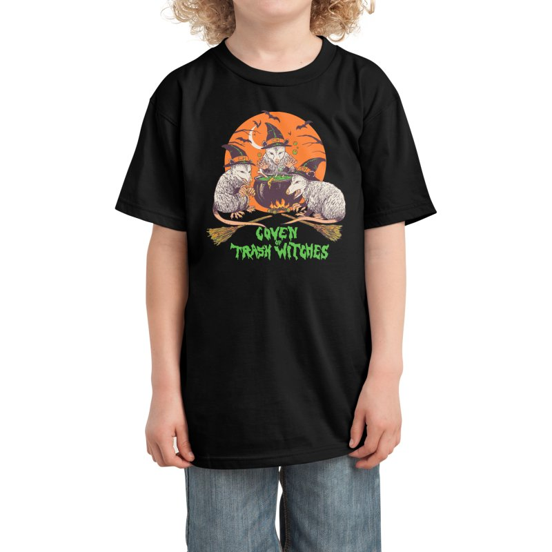 Coven Of Trash Witches Kids T-Shirt by Hillary White Rabbit