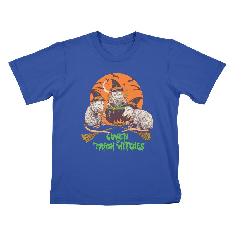 Coven Of Trash Witches Kids T-Shirt by Hillary White