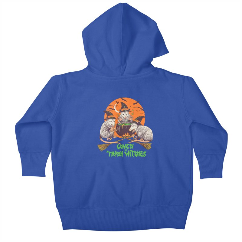 Coven Of Trash Witches Kids Baby Zip-Up Hoody by Hillary White Rabbit