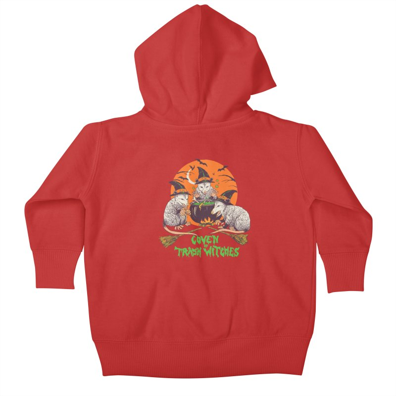 Coven Of Trash Witches Kids Baby Zip-Up Hoody by Hillary White