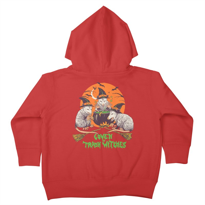 Coven Of Trash Witches Kids Toddler Zip-Up Hoody by Hillary White