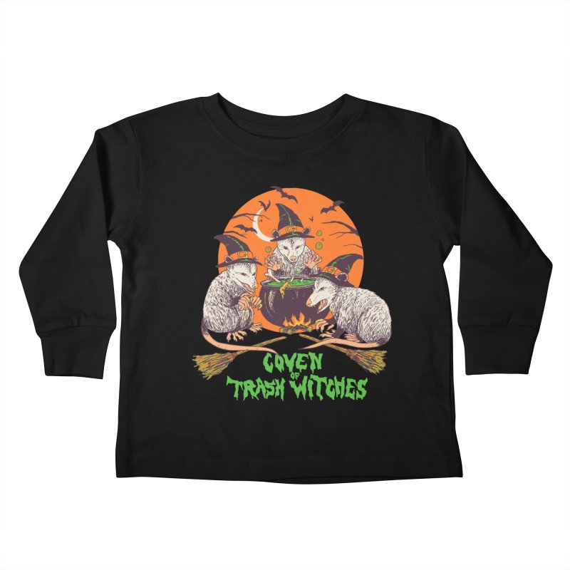 Coven Of Trash Witches Kids Toddler Longsleeve T-Shirt by Hillary White Rabbit
