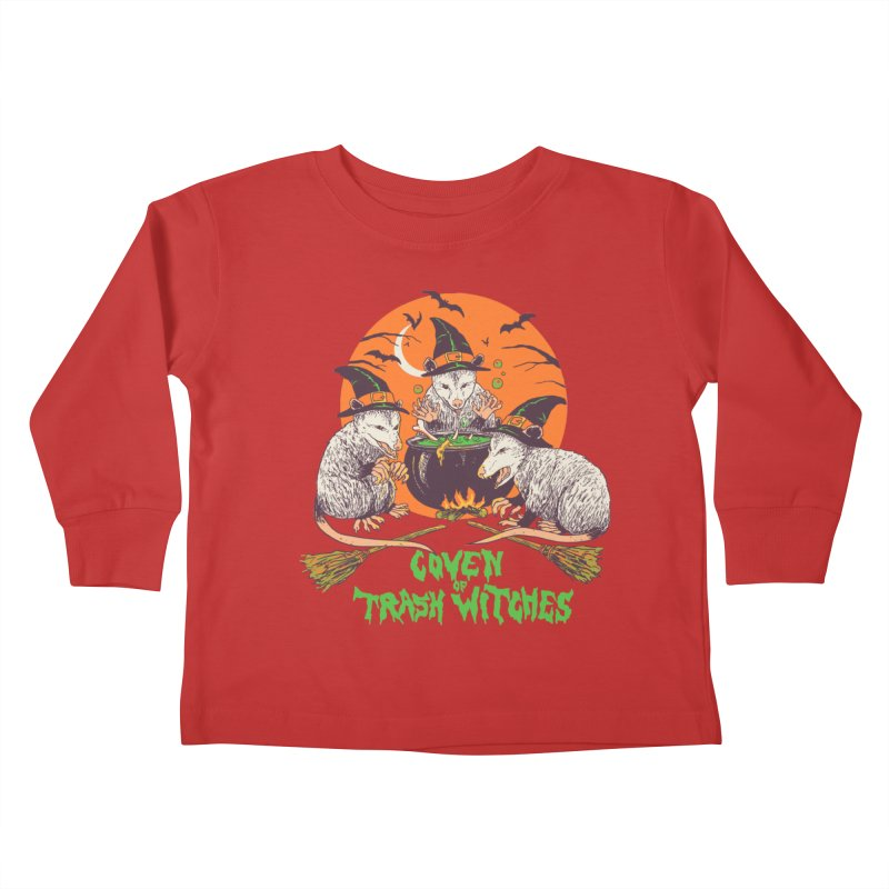 Coven Of Trash Witches Kids Toddler Longsleeve T-Shirt by Hillary White