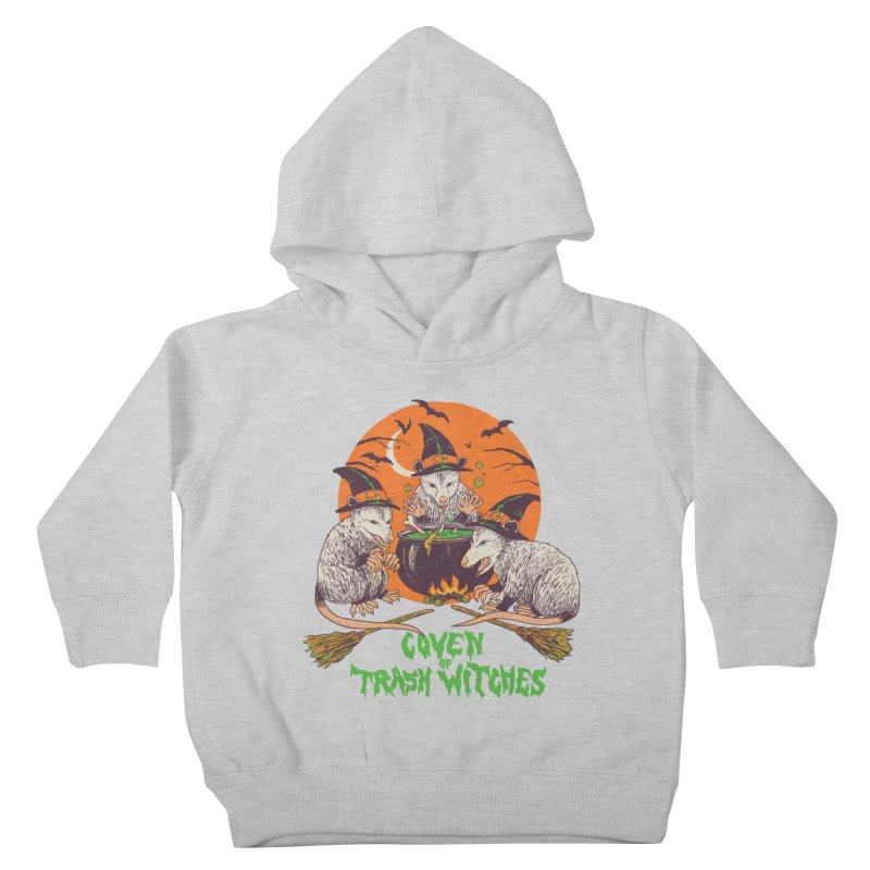 Coven Of Trash Witches Kids Toddler Pullover Hoody by Hillary White