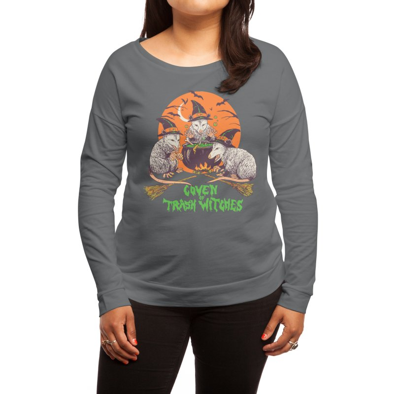 Coven Of Trash Witches Women's Longsleeve T-Shirt by Hillary White