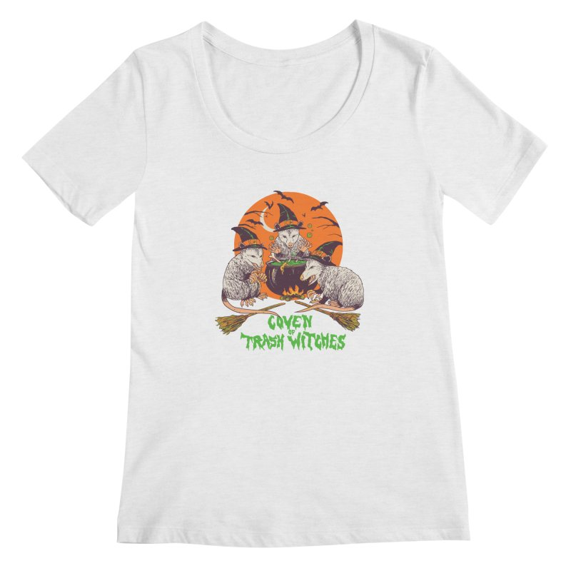 Coven Of Trash Witches Women's Regular Scoop Neck by Hillary White