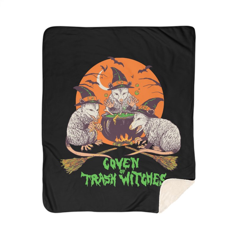 Coven Of Trash Witches Home Sherpa Blanket Blanket by Hillary White