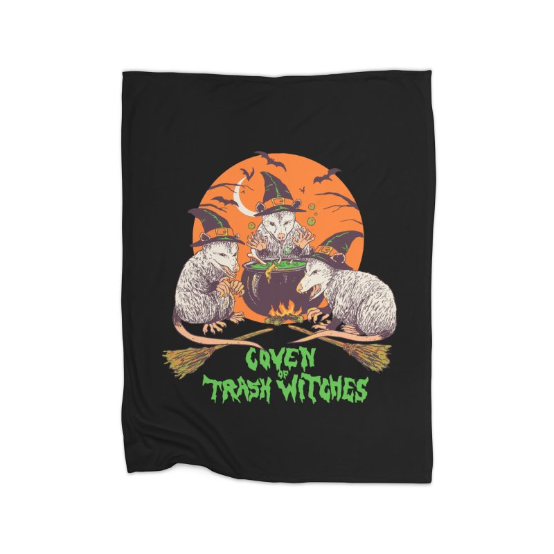 Coven Of Trash Witches Home Fleece Blanket Blanket by Hillary White