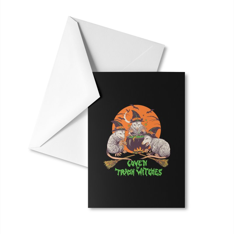 Coven Of Trash Witches Accessories Greeting Card by Hillary White