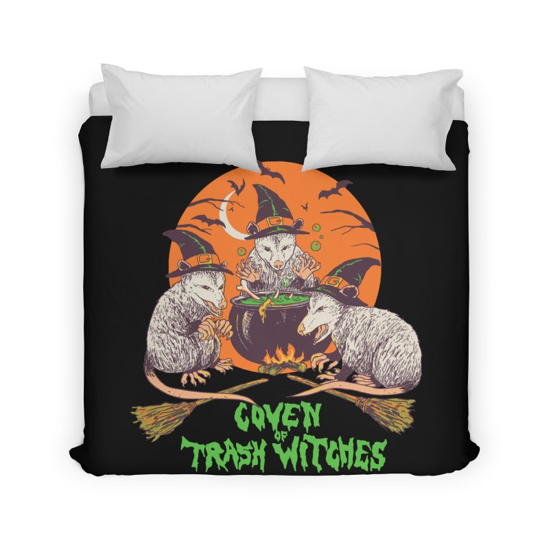 Coven Of Trash Witches Home Duvet by Hillary White