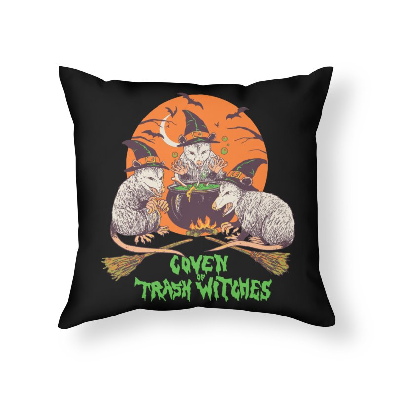Coven Of Trash Witches Home Throw Pillow by Hillary White