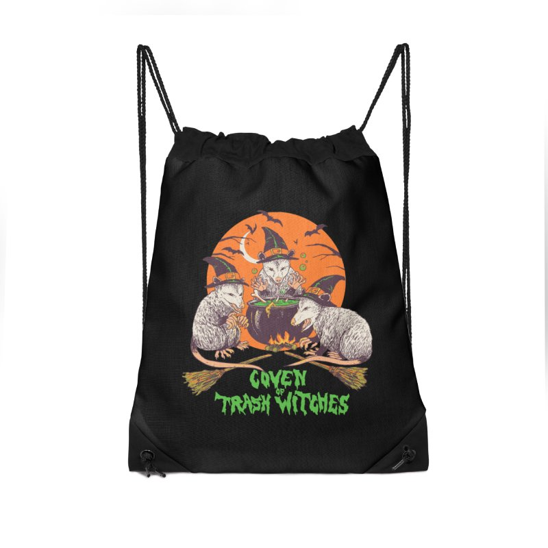 Coven Of Trash Witches Accessories Drawstring Bag Bag by Hillary White