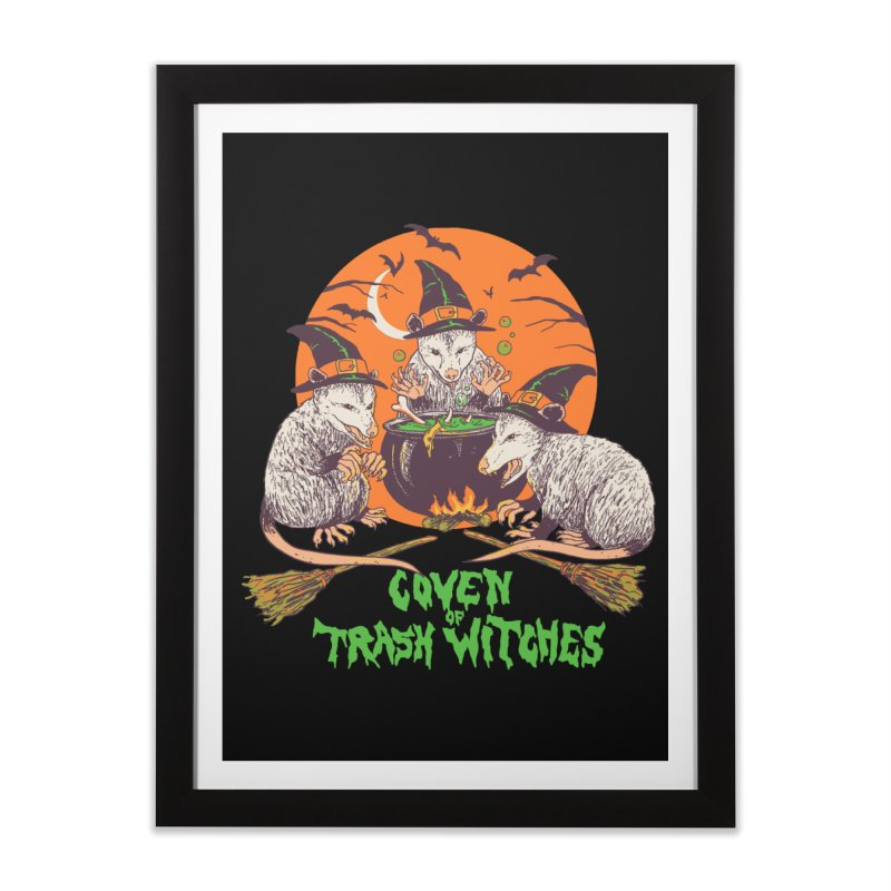 Coven Of Trash Witches Home Framed Fine Art Print by Hillary White