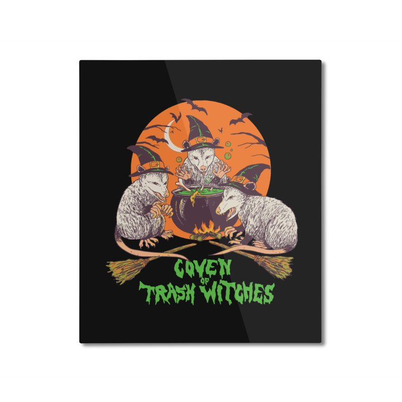 Coven Of Trash Witches Home Mounted Aluminum Print by Hillary White