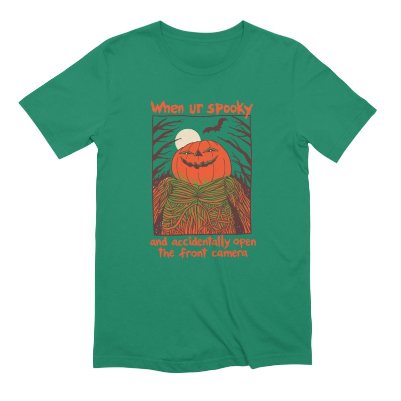 Spooky Selfie Men's Extra Soft T-Shirt by Hillary White