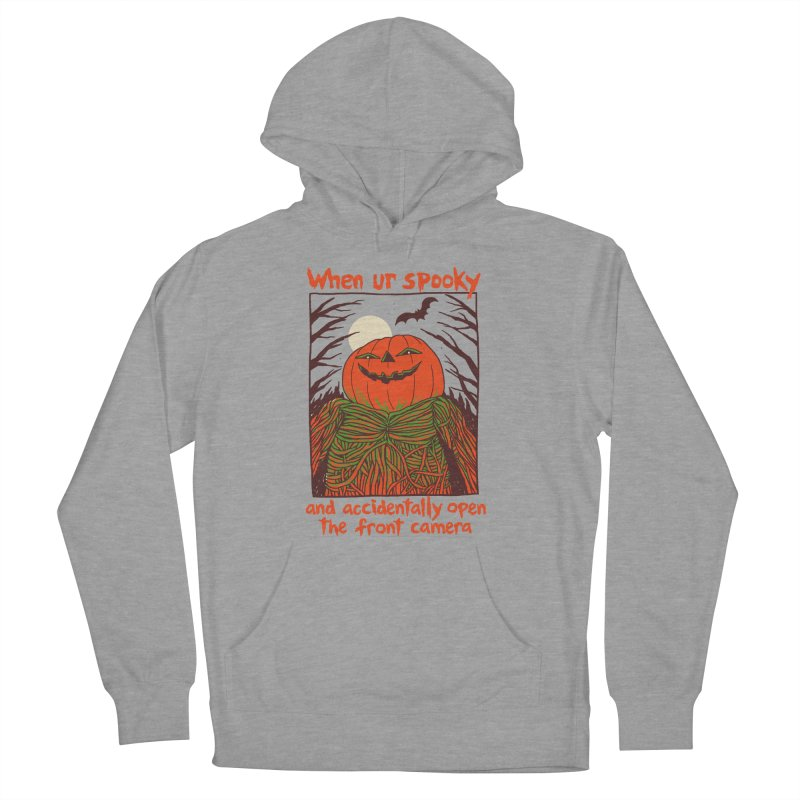 Spooky Selfie Men's French Terry Pullover Hoody by Hillary White