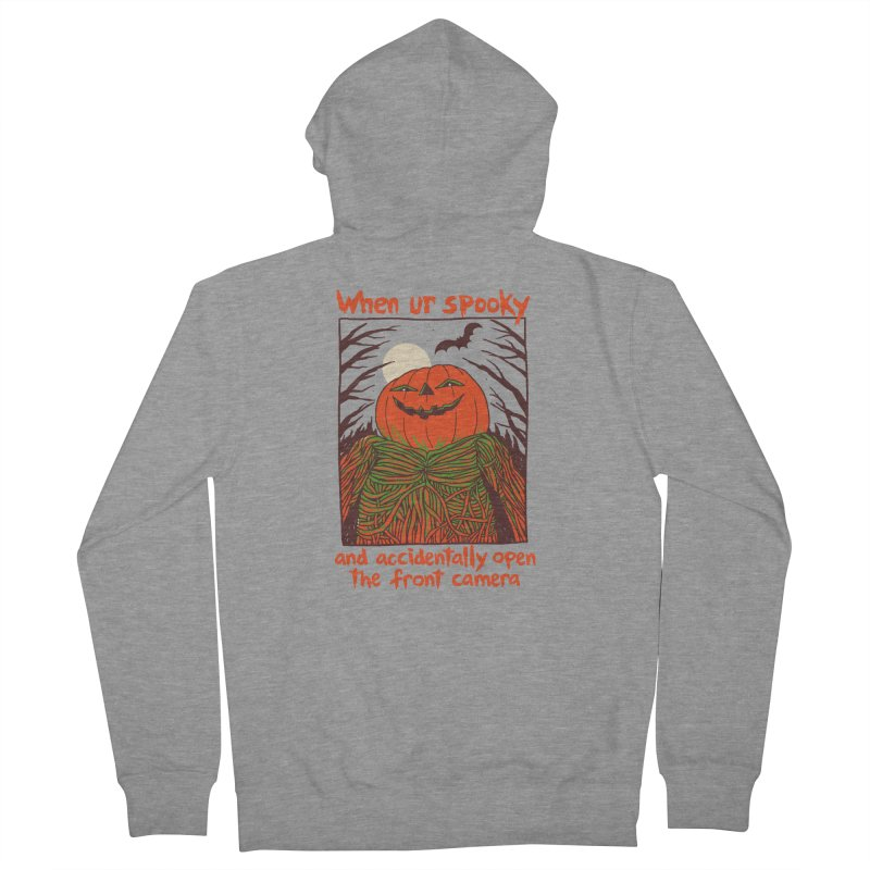 Spooky Selfie Men's French Terry Zip-Up Hoody by Hillary White