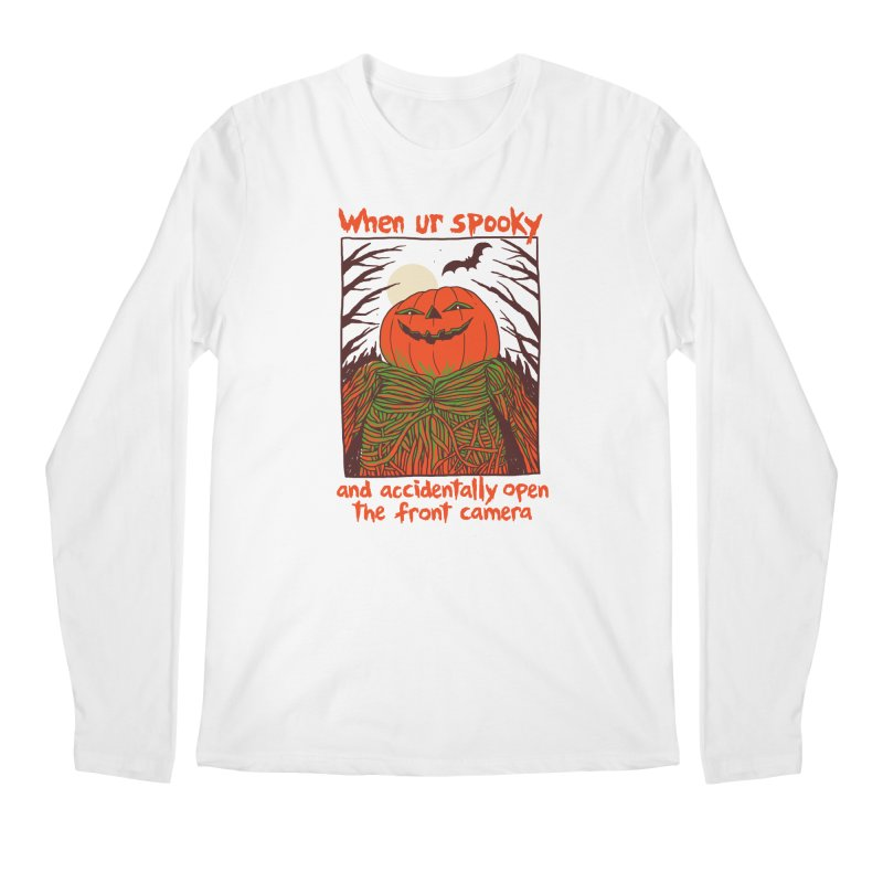 Spooky Selfie Men's Regular Longsleeve T-Shirt by Hillary White