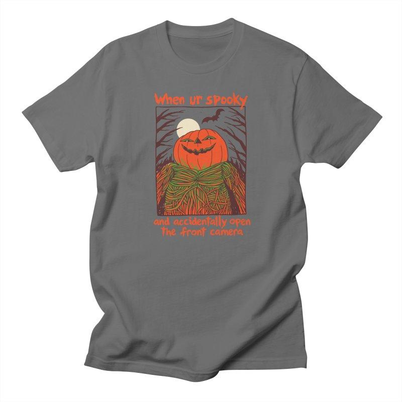 Spooky Selfie Men's T-Shirt by Hillary White