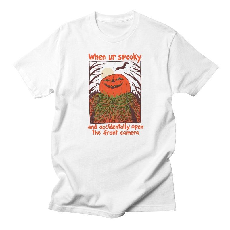 Spooky Selfie Men's Regular T-Shirt by Hillary White