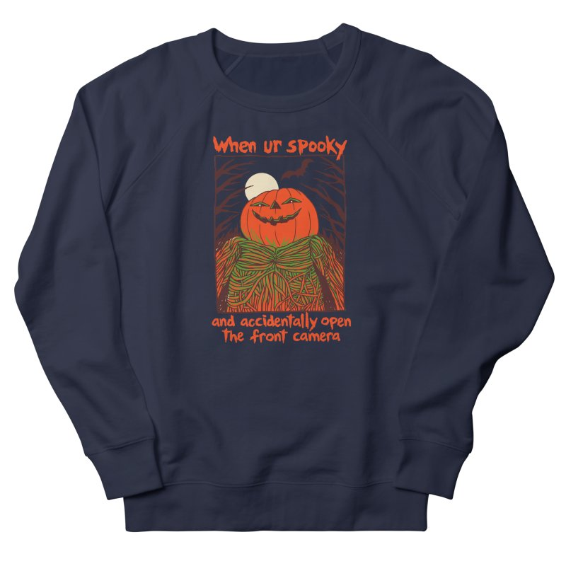 Spooky Selfie Men's French Terry Sweatshirt by Hillary White
