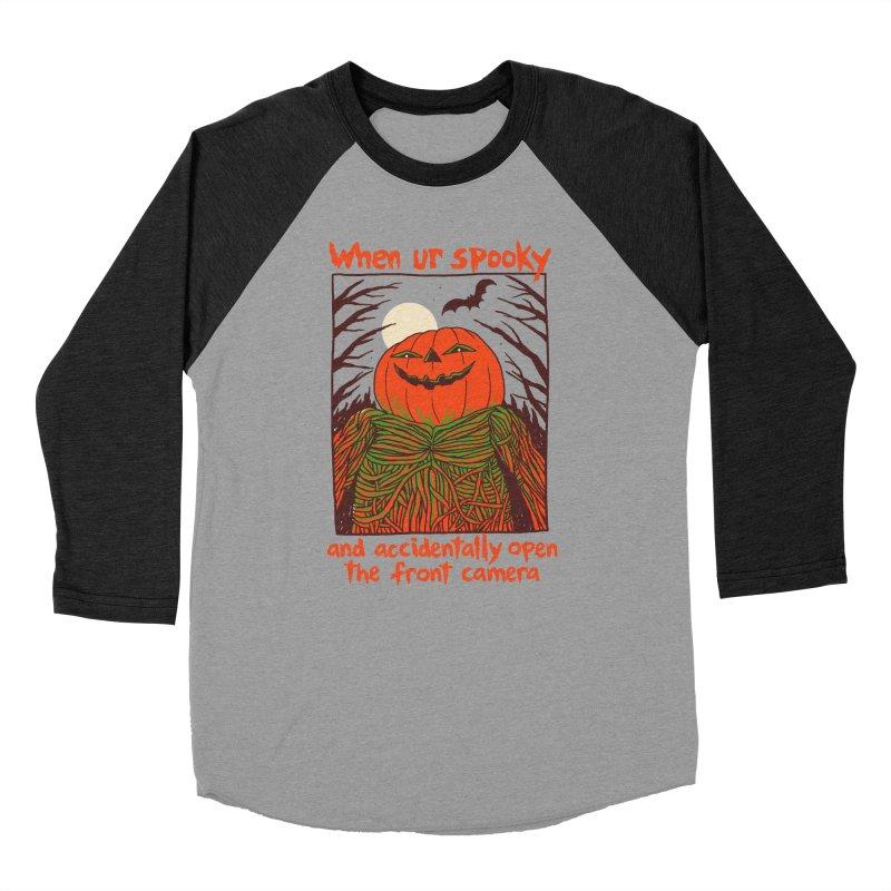 Spooky Selfie Men's Baseball Triblend Longsleeve T-Shirt by Hillary White