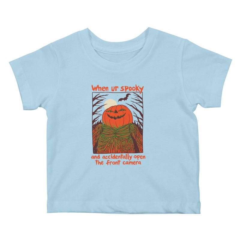 Spooky Selfie Kids Baby T-Shirt by Hillary White