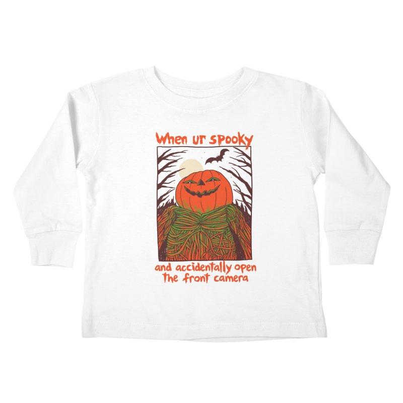 Spooky Selfie Kids Toddler Longsleeve T-Shirt by Hillary White