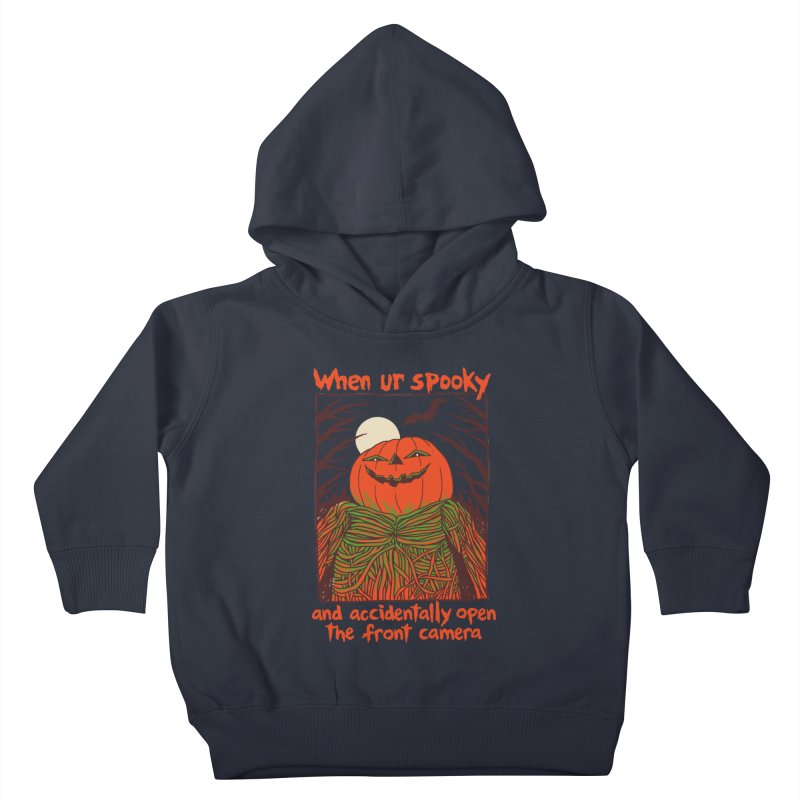 Spooky Selfie Kids Toddler Pullover Hoody by Hillary White
