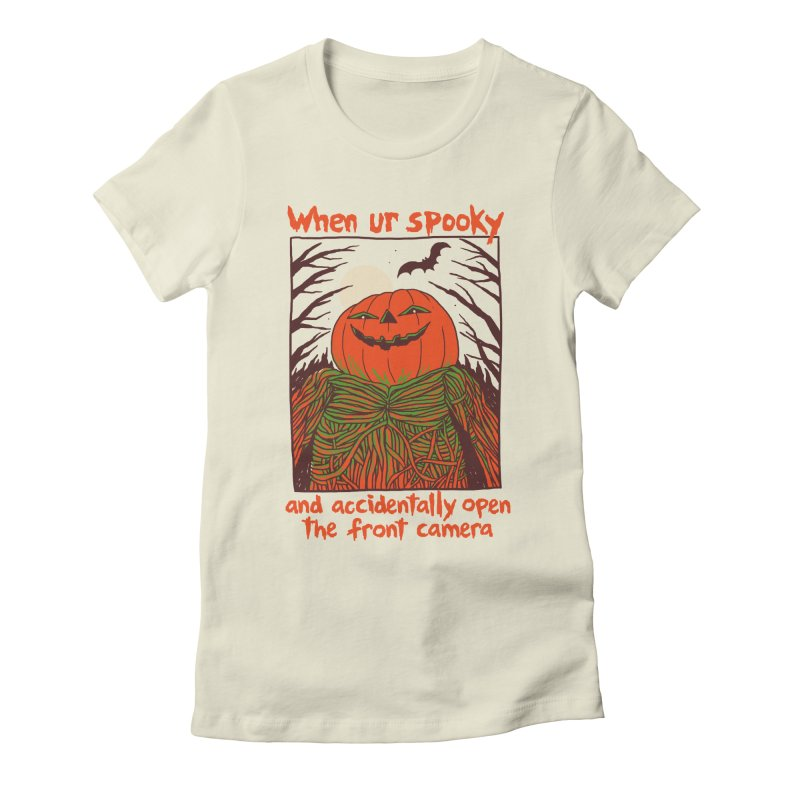 Spooky Selfie Women's Fitted T-Shirt by Hillary White