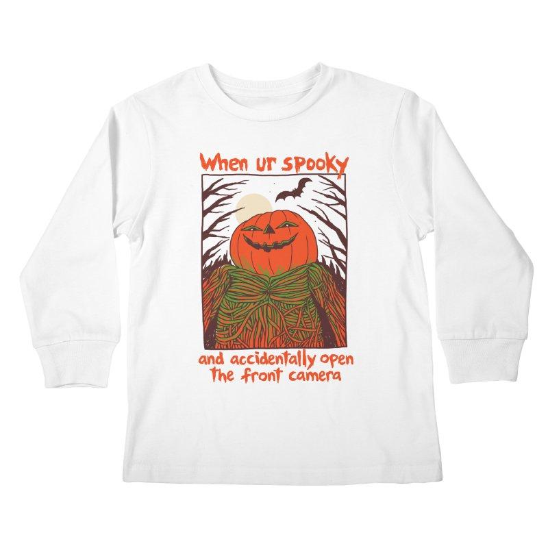 Spooky Selfie Kids Longsleeve T-Shirt by Hillary White