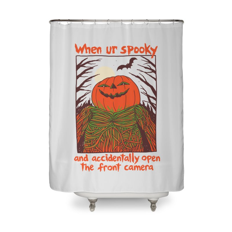 Spooky Selfie Home Shower Curtain by Hillary White