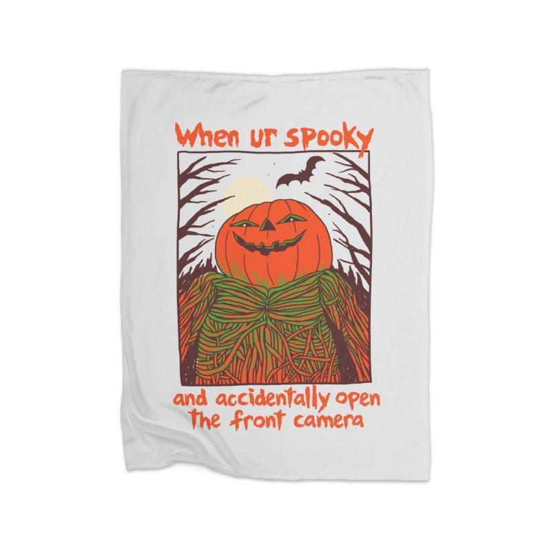 Spooky Selfie Home Fleece Blanket Blanket by Hillary White